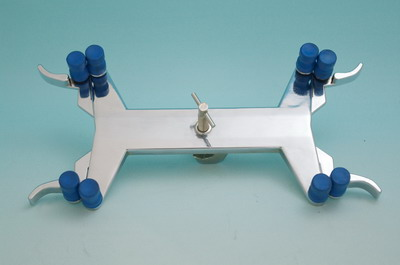 Zinc Burette Clamp Double Two Burettes Can Be Securely Held In A Vertical Position While Still Allowing Full View Of The Scale